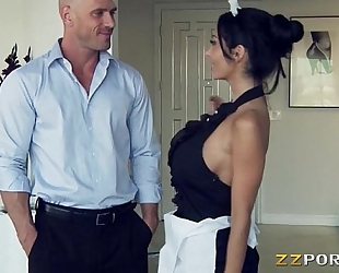 Huge hooters maid ava addams pounded with a huge knob