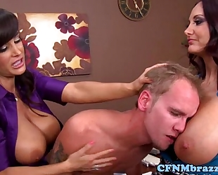 Cfnm milfs destroy recent male co worker