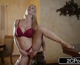 Shocking christmas sex betwixt charming stepmom alexis fawx and her stepson