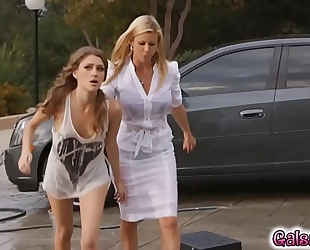 Control and discipline makes the lesbo milf alexis concupiscent