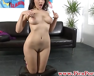 Real chica fingers herself in advance of bj