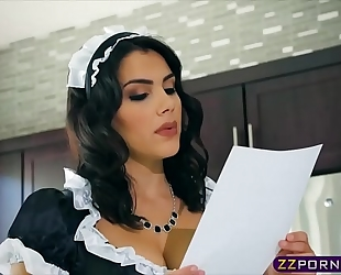 Busty dark brown maid valentina nappi double permeated