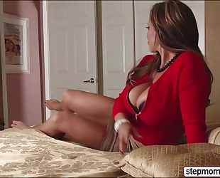 Hot stepmom eva notty shares wang with janice griffith