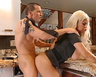 Blonde bridgette b. acquires titty screwed