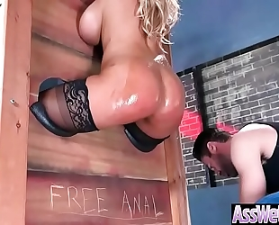 (bridgette b) hawt housewife with large oiled booty nailed unfathomable in her rectal hole movie-10
