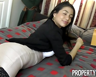 Propertysex - squirting real estate agent cheers up her client with astonishing sex