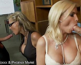 Hot diamond foxxx & phoenix marie receives gazoo drilled