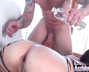 Curvy large oiled ass horny white wife (jynx maze) like anal sex on camera video-16