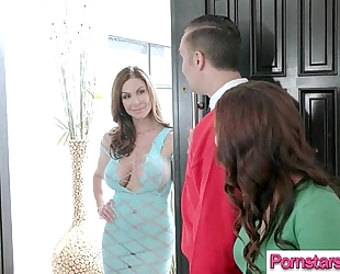 (keisha grey & kendra lust) pornstar ride biggest cock dude in sex tape video-11