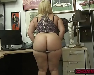 Sexy nina kayy disrobes undressed and receives drilled in the office