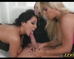 Kiara mia bridgette b astonishing trio fuck