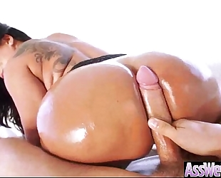 (kiara mia) amateur wife with large curvy oiled up wazoo have a fun hardcore anal sex vid-16