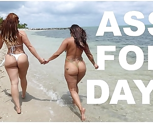 Bangbros - latin chick lesbos spicy j & miss raquel's asstastic day at the beach