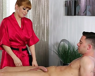 Redhead penny pax can't live without massage and anal sex