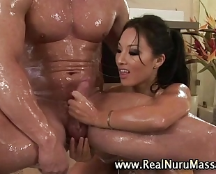 Wet oriental fetish masseuse honey