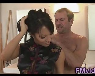 Hot shower with nice-looking asa akira