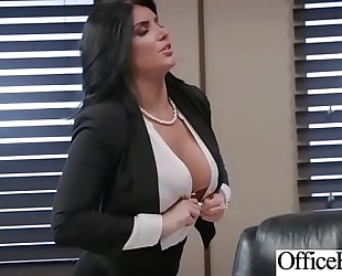 Slut white women (romi rain) with round giant milk shakes acquire nailed in office vid-25