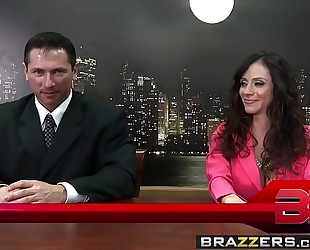 Brazzers.com - large breasts at work - fuck the news scene starring ariella ferrera, nikki sexx and john str