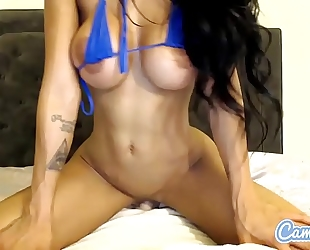 Amia miley large bumpers dark brown fucking hard with marital-device.