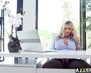 Horny boss ryan receives an anal fuck in the office