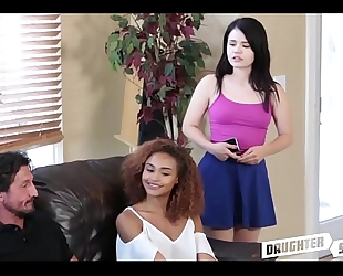 Teen copulates her most excellent allies daddy - daughterswaphd.com