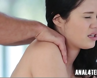 Teen acquires anal drilled for her bday