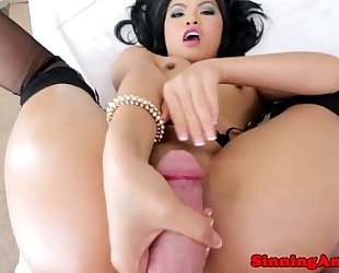 Asian glamcore doxy pussyfucked deeply