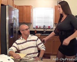 "Madisin lee in milf mama helps son with his ""term paper blue balls"""