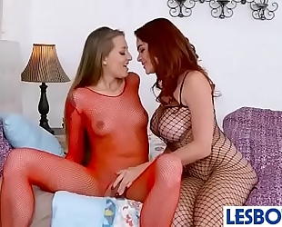 Sexy lesbian gals playing with their sexy bodies avery adair & skyla novea