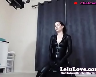 Lelu love cam bts riding sybian in catsuit