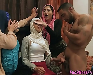 Hijab bride drilled by stripper