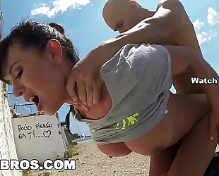 Bangbros - franceska jaimes's large spaniard gazoo drilled in public!