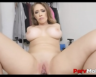 Sexy large boobs and large arse milf stepmom can't stop fucking her stepson