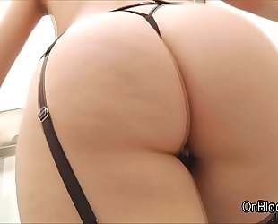Big tit squirts whilst a-hole drilled by a bbc
