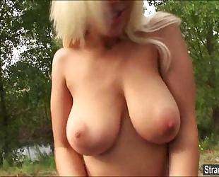 Teen blondie fesser acquires a free ride, shlong and cum