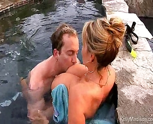 Busty white wife getting drilled in the jacuzzi