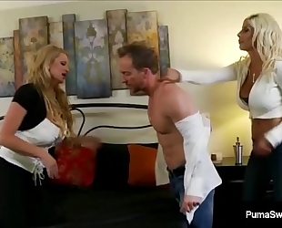 Busty chick puma swede & kelly madison fuck hubby in a three way!