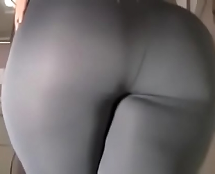 Spicy j yoga pants tear sex tool ride