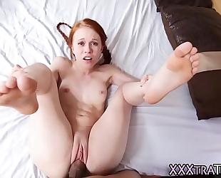Tiny redhead rides rod