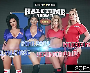 The halftime fuckfest - brooklyn pursue, phoenix marie, romi rain, veronica avluv