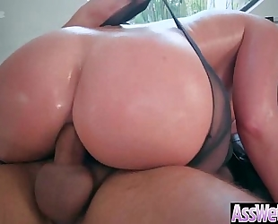 (brooklyn chase) large curvy a-hole amateur wife have a fun on web camera unfathomable anal sex video-12