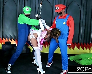 Jerk that pleasure stick: super mario bros receive busy with princess brooklyn follow