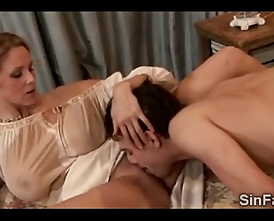 Sexy large boobed older playgirl bonks lascivious most good ally