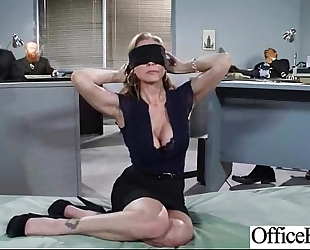 Slut horny white wife (julia ann) with large zeppelins in office acquire nailed clip-19