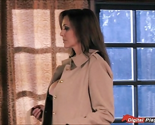 Busty milf julia ann acquires pounded and cummed on by the enemy