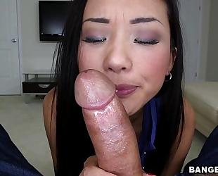 Asian playgirl alina li shlong engulfing school