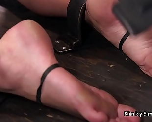 Busty blond in device servitude feet tormented