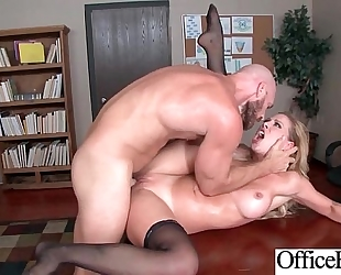 Gorgeous white bitch (cherie deville) with large round whoppers acquire sex in office mov-18