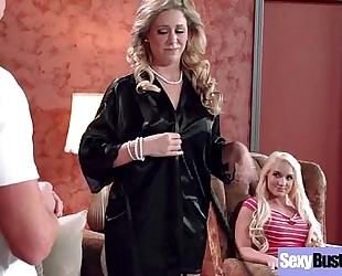 (cali carter & cherie deville) sexy large melon pointer sisters milf have a fun hardcore gangbang video-06