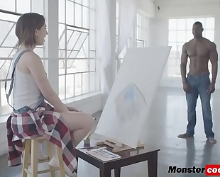 Joseline kelly filled by dark monster cock